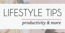 LIFESTYLE TIPS / This board is full of lifestyle tips related to productivity, organization, Let's improve our lives together, visit mayamaceka.com for more!