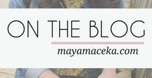 ON THE BLOG / A collection of articles from my lifestyle & travel blog. Covering topics like how to travel on a budget, personal finance, working online and blogging. See all the posts at www.mayamaceka.com