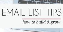 EMAIL LIST BUILDING / A board full of email marketing and email list building tips. Learn how to create blog newsletters and grow your subscribers. And don't forget to subscribe to my Secret Library for freebies and more blogging tips: mayamaceka.com