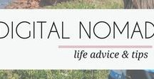DIGITAL NOMAD / Learn how to work online and travel full time. If you want to become a digital nomad, this board is full of the best technology and travel tips. Check out mayamaceka.com to read all about THIS digital nomad and her adventures.