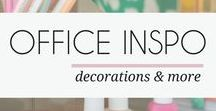 OFFICE INSPIRATION / Drool over these beautiful office spaces. Find the best office supplies and home decor on this board. Check out mayamaceka.com for more eye candy.