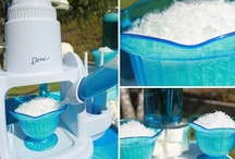 """Snowball Bar """"Look for Less"""" / Ice Age inspired snowball bar I designed. As seen in my """"Look for Less"""" series for Hostess With the Mostess / by Soiree Event Design"""