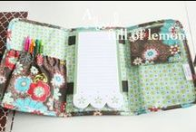 Binder and Notepad Love / All my obsessions with school supplies and organization and sewing piled into one great idea. Love! / by Karen U