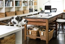 HOME OFFICE / Creative spaces to work at home / by Debbe Daley