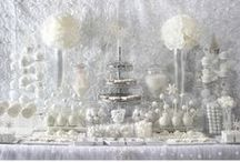 Winter White Bridal Shower / As seen in my HWTM Trend Alert, This is a styled shoot by Soiree Event Design for Koyal Wholesale featuring ideas for a Winter White themed wedding using the new ALL-WHITE COLOR TREND.  A virtual shopping list of all of the items I used in styling this theme and some additional inspiration.