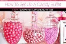 How to Setup a Candy Buffet in 6 Steps / ON MY BLOG:  Step by Step tutorial on How to Set Up a Candy Table plus a guide to how much candy you'll need and how much the entire table costs!