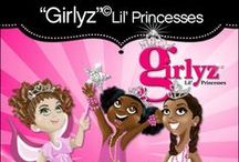 """Girlyz Lil' Princesses"" party / FINALLY... A princess party featuring multi-cultural little princesses that my daughter's can relate to. As seen on HWTM this party features my exclusive ""Girlyz Lil' Princesses"" characters now available as party printables at: Soiree-EventDesignShop.com"
