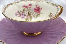 Cuppa / I love the china used to serve tea, even though I don't like hot tea.