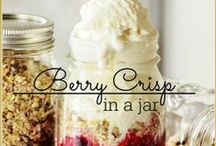 Desserts in a Jar Recipes / Serving a dessert recipe in a jar makes for a beautiful presentation. Desserts in a Jar  / by Arlene | Recipes | Flour On My Face