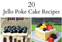 Poke Cakes / Love those nostalgic desserts made with jello and pudding? This is where you will find Poke Cake recipes.