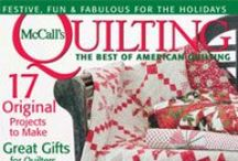 McCall's Quilting Issues / McCall's Quilting quilt pattern magazines - over a dozen new quilt patterns in every issue. / by McCall's Quilting