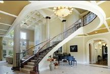 """Sublime Staircases / Staircases offer a way to customize your home's design theme. Here are a few staircases found in Baird & Warner homes. """"Real estate is more than just the home you live in - it's the life you get out of it."""""""