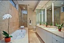 """Beautiful Bathrooms / Bathrooms can offer an endless amount of luxury options - from specialty showers to beautiful lighting. Here are a few stunning bathrooms found in Baird & Warner homes. """"Real estate is more than just the home you live in - it's the life you get out of it."""" / by Baird & Warner"""