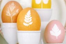 Easter / Easter, spring, eggs, bunnies and flowers.