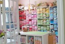 Quilting Studio Ideas / Fabric organization, storage solutions, and efficient use of space are topics quilters all care about. Here's a gathering of ideas for making the most of your sewing space. / by McCall's Quilting
