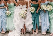 Wedding Party Attire / Beautiful dresses and makeup / by Kelly