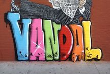 Street Art / As seen on the sidewalks, streets, buildings... / by Leah G