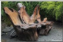 Log ~ driftwood ~ tree stump furniture / making furniture out of logs and driftwood. / by Sarah Higgins