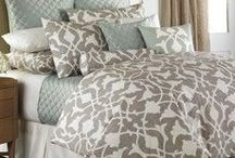 Bedding / Beautiful, on trend bedding to share with clients that need to update their rooms.