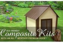 Dog House Kits / Looking for the perfect solution for a new doghouse for your pet? A dog house kit may be the answer delivered to your front door! www.doowaggle.com #doghousekits