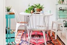 h o m e : dining room / ( a family that dines together, stays together )