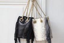 Designer - Delphine Delafon / Bucket bag - Shoulder bag - leather bag - made in France - Handmade bag