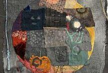 Mixed media textile art