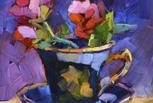 Acrylic, oil, pastels and mixed media art