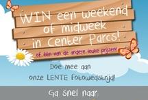 Fotowedstrijd / Fotowedstrijd! Deel je mooiste foto met ons en maak kans op een weekend of midweek Center Parcs of één van de vele andere leuke prijzen! http://www.canvascompany.nl/fotowedstrijd/