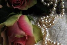 LACE~PEARLS~and ROSES / by Jean Mcreynolds