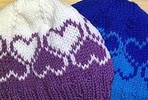 Hats / Patterns for crocheted and knitted head coverings aka toques ear warmers berets etc...