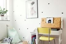 kid room. / Inspiration for kid's bedroom, play space and craft room.
