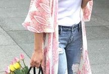 spring fashion. / Spring outfits that are casual, preppy, pastel, and beautiful for women.