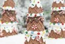"""christmas / I like the idea of """"pioneer"""" Christmas simplicity, but have noticed that often, more modern and store bought is a lot easier. As an example, we like our popcorn garland and homemade gingerbread men... And purchased """"Christmas Tree"""" scented spray. ;)"""