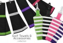 Just 4 Golf Headcovers / Classic knit headcovers. You can shop by collection or by club type: driver, fairway, hybrid and putters / by Golf4Her