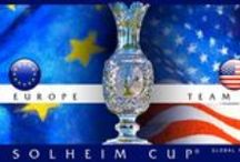 Solheim Cup / Red, White and Blue or the EU ... no matter who you are rooting for, the Solheim Cup is the best event in women's golf! Here are some of our favorite Solheim-inspired pins :) / by Golf4Her