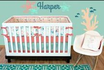 Coral & Mint Nurseries / Coral and mint baby bedding and home accents. Perfect for a baby girl!