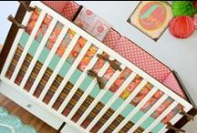 Nursery Themes // Sweet Nursery / A sweet combination of coral, pink, tangerine, brown and key lime. Adorable theme for a baby girl nursery!