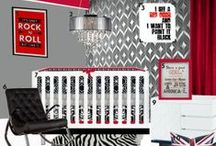 Nursery Themes // Rock and Roll Nursery / Ideas and decor for your Rock and Roll nursery, you're little rocker will be in love!