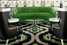 Nursery Themes // Hollywood Regency Nursery / Modern and over the top, with great colors!