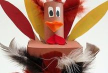 Thanksgiving Fun / Fun cardboard makes to help celebrate Thanksgiving - and recycle those old moving boxes!
