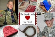 {handmade with LOVE} / ...Scarves, hats, cool-ties, paracord bracelets and greeting cards made with love for deployed troops, veterans, new recruits and wounded warriors...