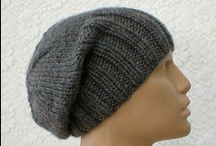 Slouchy Brimmed Beanie Hats / Very versatile hats that can be worn as a slouchy hat or fold back the brim for a brimmed beanie look!!