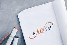 <design> lettering