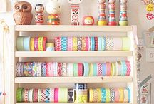 Washi / Japanese rice paper tapes madness.