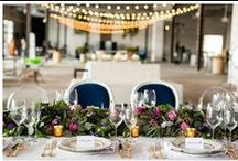 Urban Garden Glam / garland and flowers and gold in an urban warehouse setting  / by Bella Notte DC