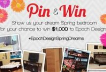 #EpochDesignSpringDreams Contest Entries / Show us your dream bedroom for the Springtime, for your chance to win $1,000 in Epoch Design furniture! Details and rules on our blog.
