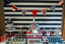 Nautical Themed Party Ideas / This is a board I used to pin all my nautical themed birthday party ideas. It would be perfect for anyone planning a nautical themed wedding, a nautical themed baby shower, or nautical themed BBQ.