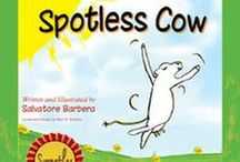 """Book: Mary Elizabeth The Spotless Cow / A delightful story all about a cow! She's ever so excited to go to a new farm. But when she arrives, the new cows won't have anything to do with her. That's mean, you say? Yes, I agree dear, it's very mean. So why are they doing that? Well, it seems they all have many spots on their fur and she's completely spotless! Her name - Mary Elizabeth The Spotless Cow."""" #thespotlesscow #cowpower  https://twitter.com/thespotlesscow #booksforkids"""