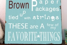These are a few of my favorite things... / Things I love / by Wylette Green